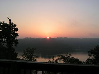 Sunrise from your deck!